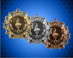 2 1/4 Inch Victory Ten Star Medals