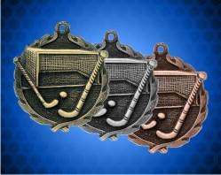 1 3/4 Inch Field Hockey Wreath Medal