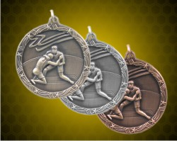 1 3/4 inch Wrestling Shooting Star Medals