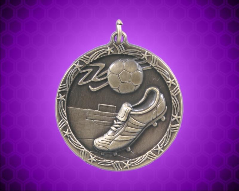 1 3/4 inch Gold Soccer Shooting Star Medal