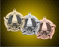2 1/4 inch Cheerleading Super Star Medals