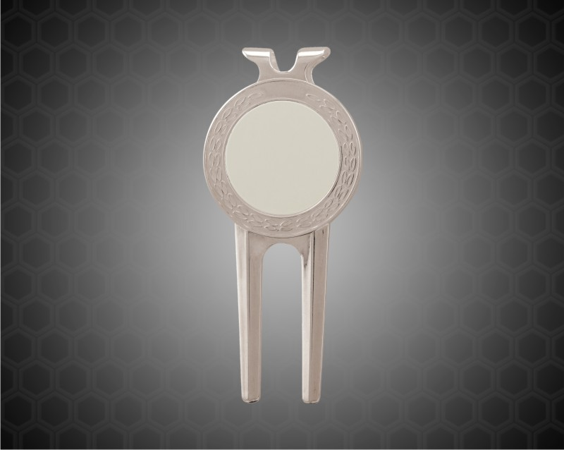 """1 1/2"""" x 3"""" Silver Divot Tool with Sublimatable Insert"""
