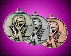 2 Inch Basketball Die Cast Medal