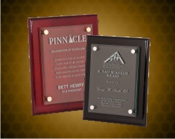 Piano Finish Floating Glass Plaques