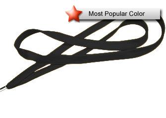 Black Flat Woven Lanyard