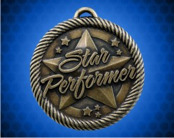 2 inch Gold Star Performer Value Medal