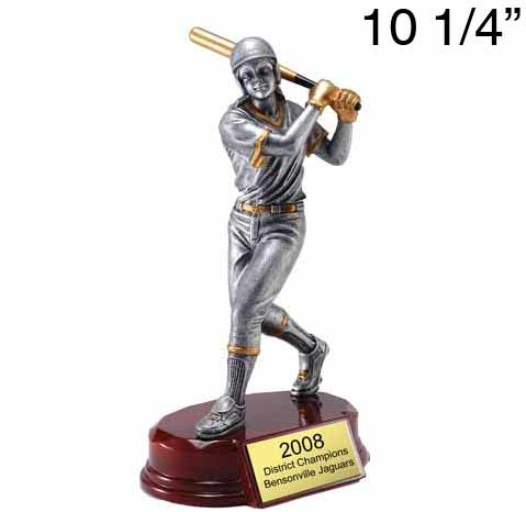 Large Softball Resin Figure Award
