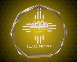6 Inch Gold  Octagon Acrylic Award