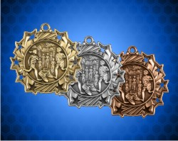 2 1/4 Inch Cross Country Ten Star Medals