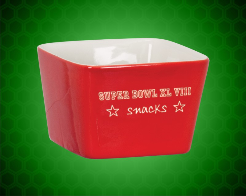 4 x 4 Red Ceramic LazerBowl