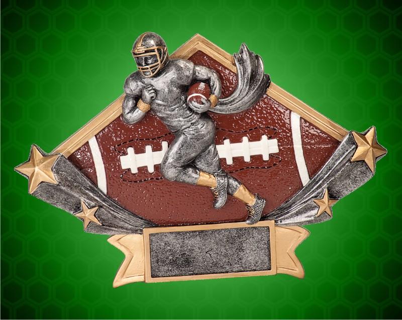 5 3/4 x 8 1/2 Inch Football Diamond Star Resin
