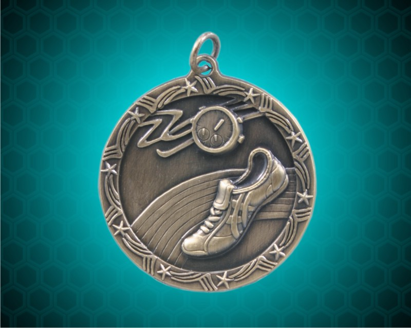 1 3/4 inch Gold Track Shooting Star Medal