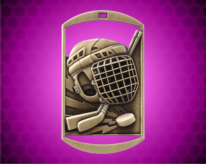 2 3/4 inch Gold Hockey DT Medal