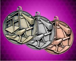 2 Inch Gymnastics Die Cast Medal
