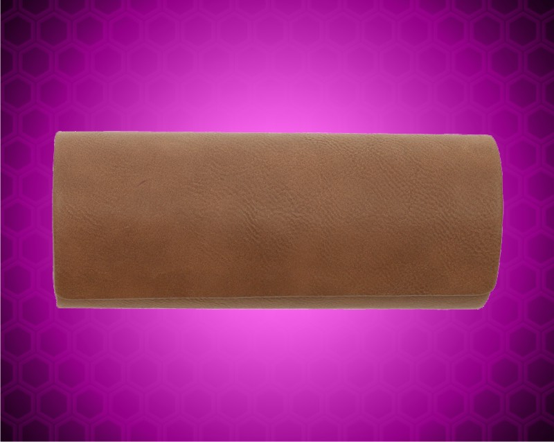 "6 1/2"" x 2 1/2"" Dark Brown Leatherette Eyeglass Case"