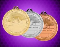2 Inch Gymnastics Laserable Britelaser Medals