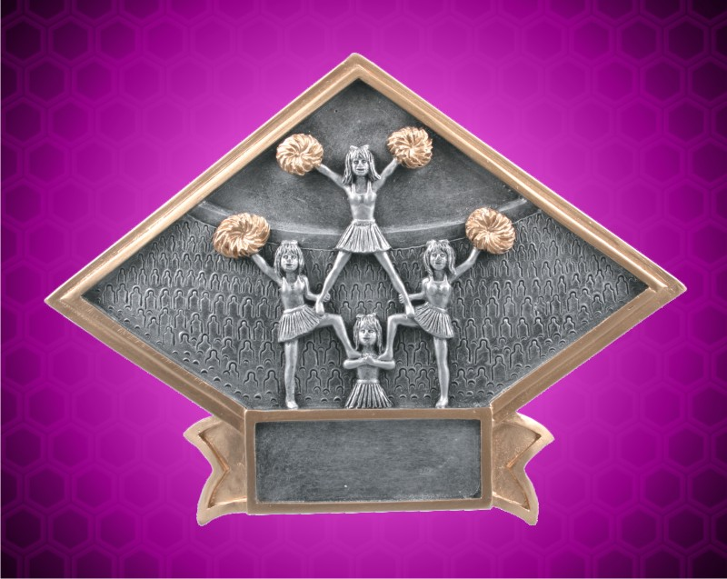 4 1/2 x 6 Inch Cheerleader Diamond Resin