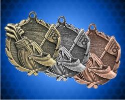 1 3/4 Inch Golf Wreath Medal