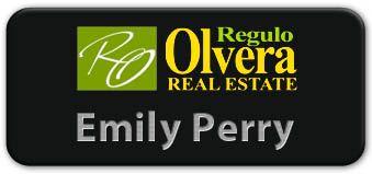 Screen Printed Smooth Plastic Name Tag: Black and Silver - LM922-413