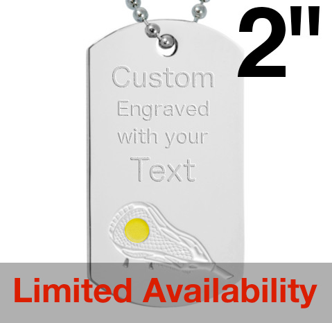 Lacrosse Dog Tag - Yellow Ball