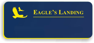 Blank Smooth Plastic Name Tag with Logo: Sky Blue and Yellow - LM922-517