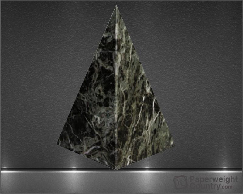 5 x 3 x 3 Inch Jade Leaf Green Pyramid