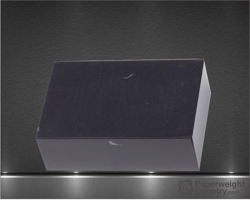 2 x 6 x 4 Inch Black Marble Rectangular Cuboid Paperweight