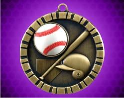 2 inch Baseball 3-D Medal