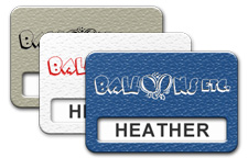 Textured Plastic Reusable Windowed Name Tags