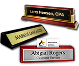 Piano Finish Desk Name Plates