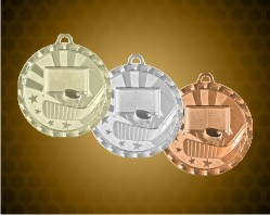 2 inch Hockey Bright Medals