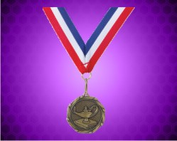 Gold Knowledge Medal w/ Red, White, & Blue Ribbon