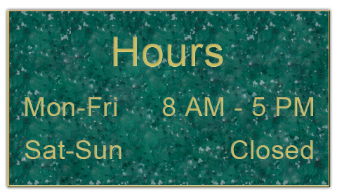 Smooth Plastic Sign: Verde with Gold - LM922-937