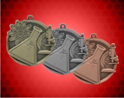 2 1/4 inch Science Mega Medals