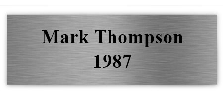 Printed Plaque Plate: Brushed Silver