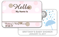 Hello My Name Is Baby Shower Stickers