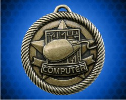 2 inch Gold Computer Value Medal