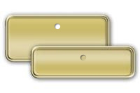 Gold Plastic Name Tag Frames