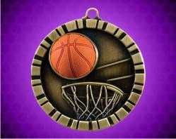 2 inch Basketball 3-D Medal