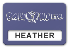 Reusable Smooth Plastic Windowed Name Tag: Purple with White - LM922-582