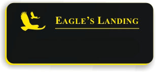 Blank Smooth Plastic Name Tag with Logo: Black and Yellow - LM922-407