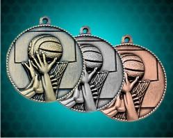 1 1/2 Inch Basketball Die Cast Medal