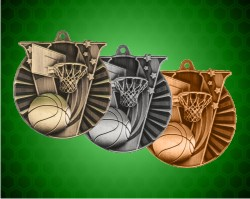 2 Inch Basketball Victory Medal