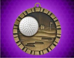 2 inch Golf 3-D Medal