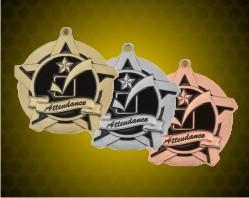 2 1/4 inch Attendance Super Star Medals