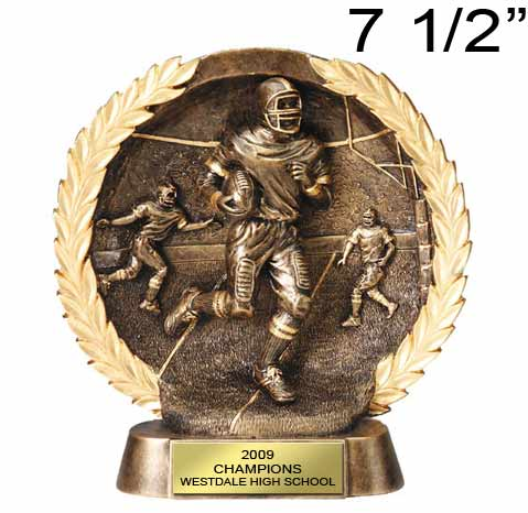 Football 3d Action Wreath Award