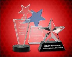 Crystal Star Award on Pedestal Base
