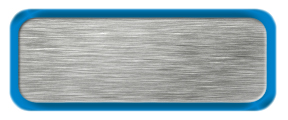 Blank Brushed Silver Nametag with a Shiny Blue Metal Border