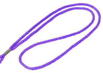 Purple Round Woven Lanyard