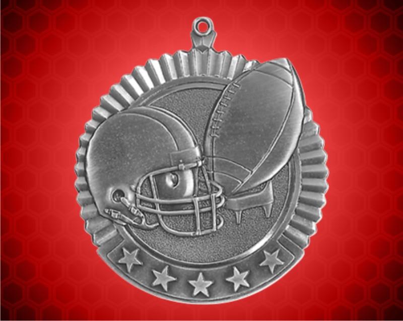 2 3/4 inch Silver Football Star Medal